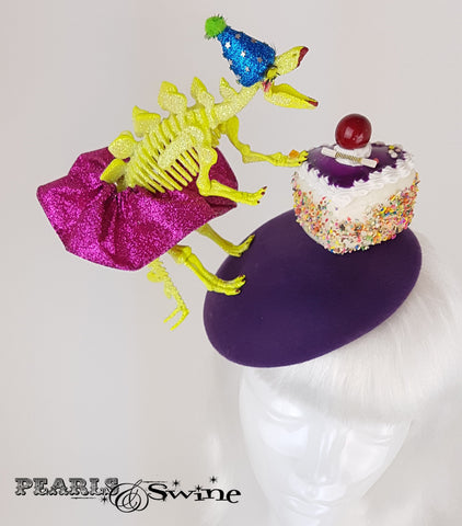 Dinosaur Cake Glitter Hat, ladies hats for sale UK