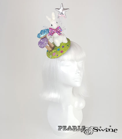 Fairy Bunny Glitter Fascinator hat for sale