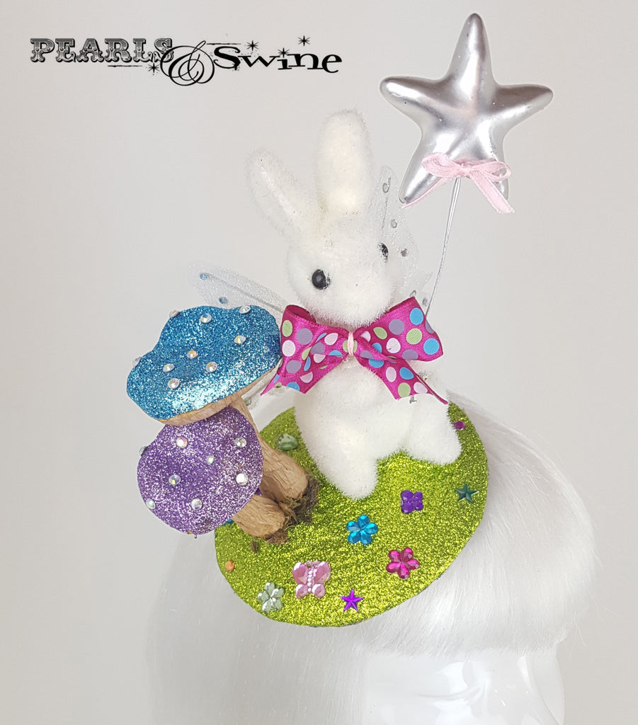 Fairy Bunny Glitter Fascinator UK