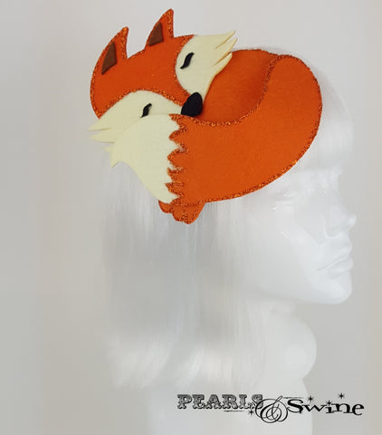 Sleeping Fox quirky Fascinator
