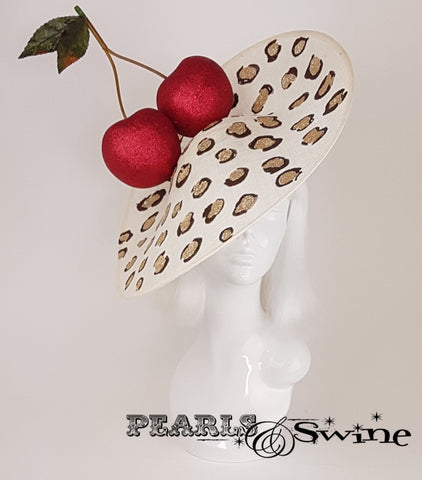 Giant red glittered cherries hat for sale UK