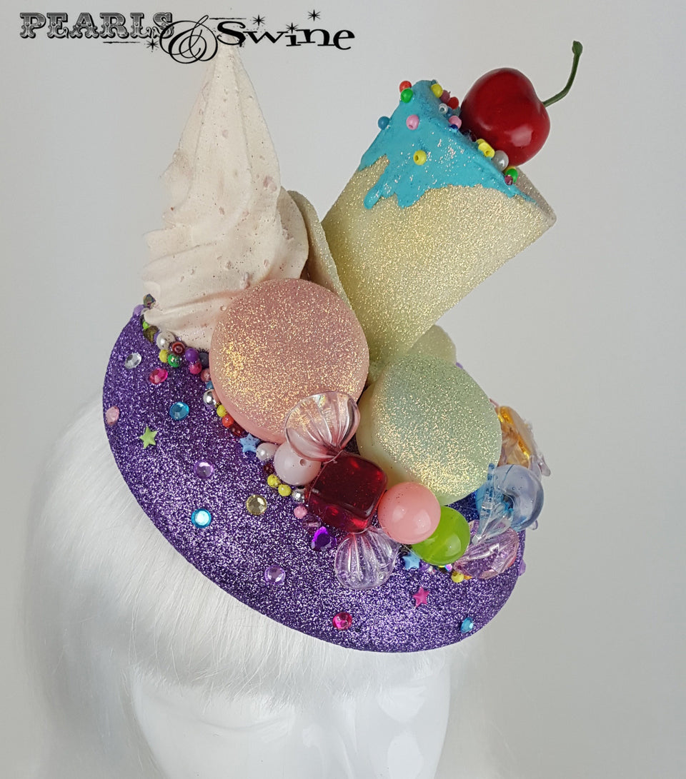 Glitter Cake Candy Hat, ladies hats for sale