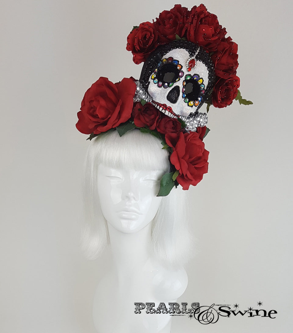 "Day of the Dead Sugar Skull Hat ""The Unforgotten"""