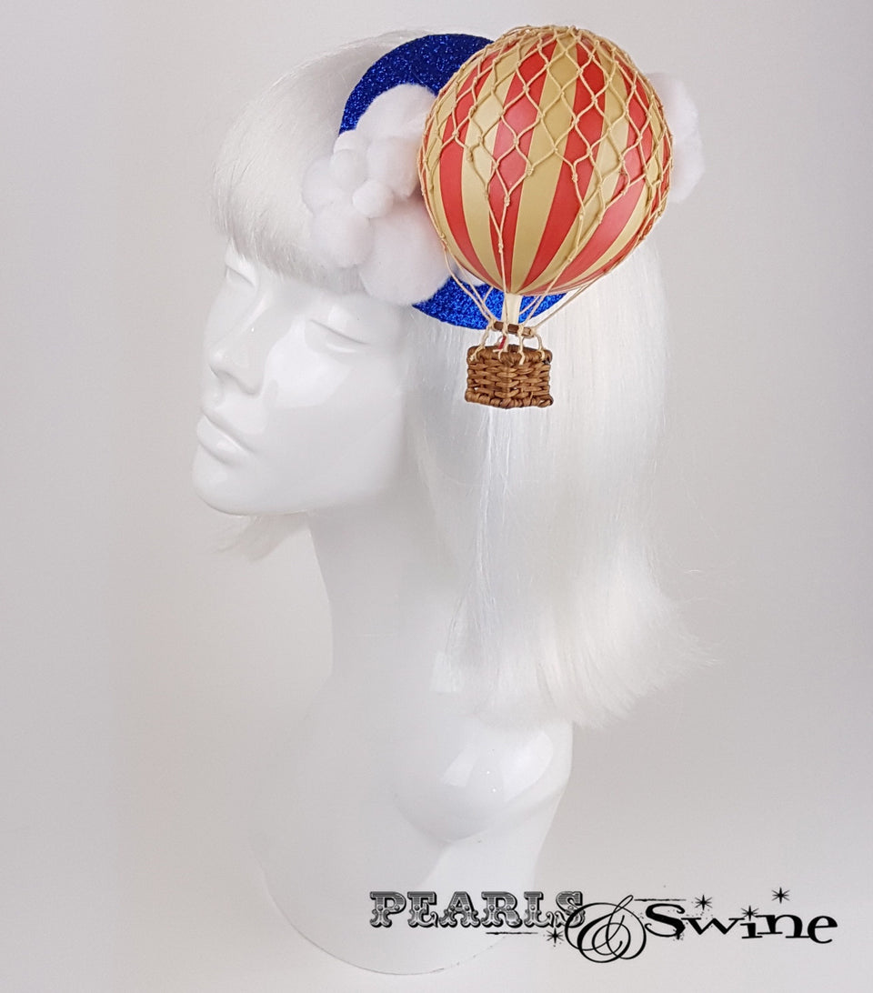 glitter hot air balloon cloud fascinator