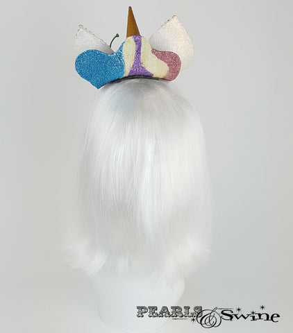 dropped ice cream unicorn fascinator