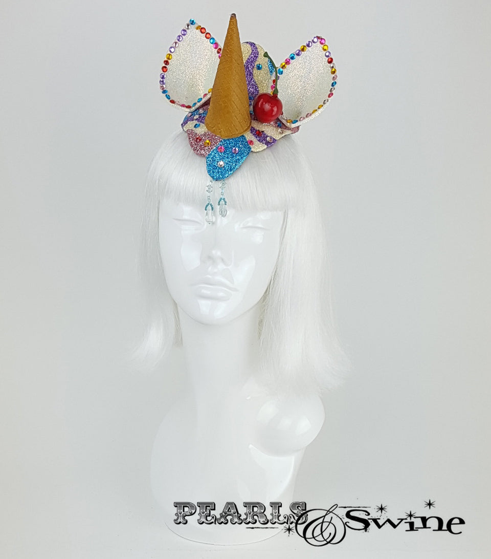 dropped ice cream unicorn headpiece