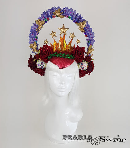 Virgin Mary Mexican Guadalupe glitter headdress
