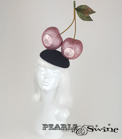 Giant Pink Glitter Cherry nipple Hat breast Cancer charity
