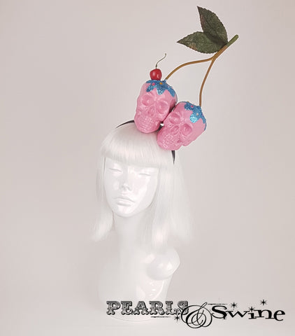 Skull Cherry Cupcake Headband, british millinery