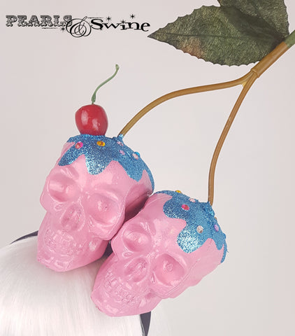 Skull Cherry Cupcake Headband, quirky hats for sale