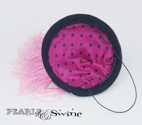 Polka dot pink flamingo hat