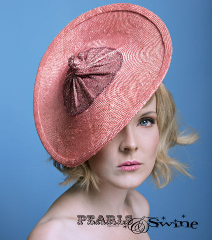 Pink Straw Glitter Boob Hat, macmillan cancer UK