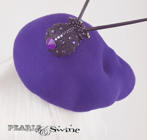 Purple hand blocked felt hat