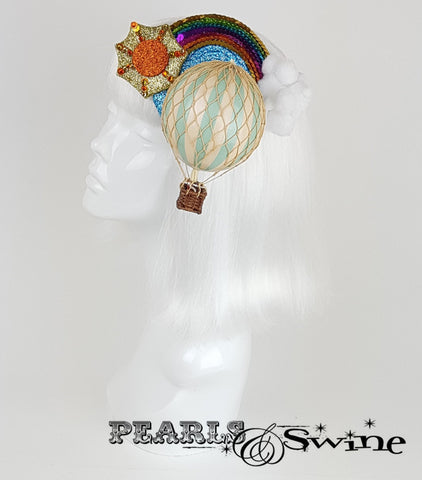 hot air balloon headpiece fascinator