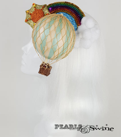 hot air balloon headpiece fascinator UK