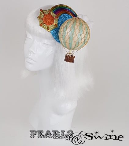 hot air balloon headpiece wedding fascinator