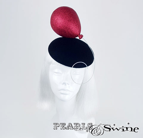 "Red Glitter Balloon Hat ""Le Ballon Rouge"""