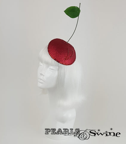 glitter fruit cherry hat fascinator UK