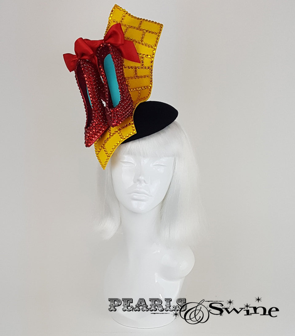Wizard of Oz Ruby Slippers Hat, Royal Ascot hat