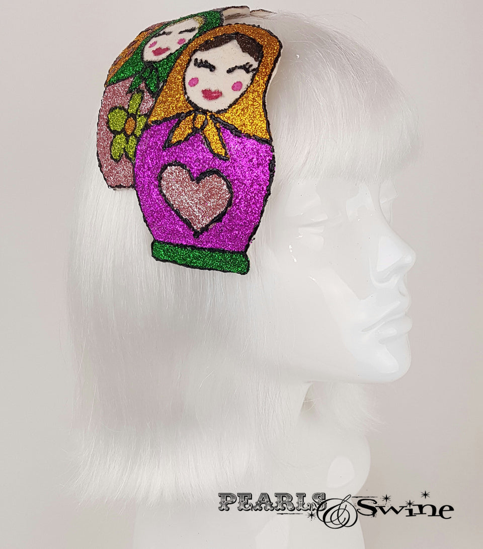 Colourful Glitter Russian Doll ladies Hats for sale UK