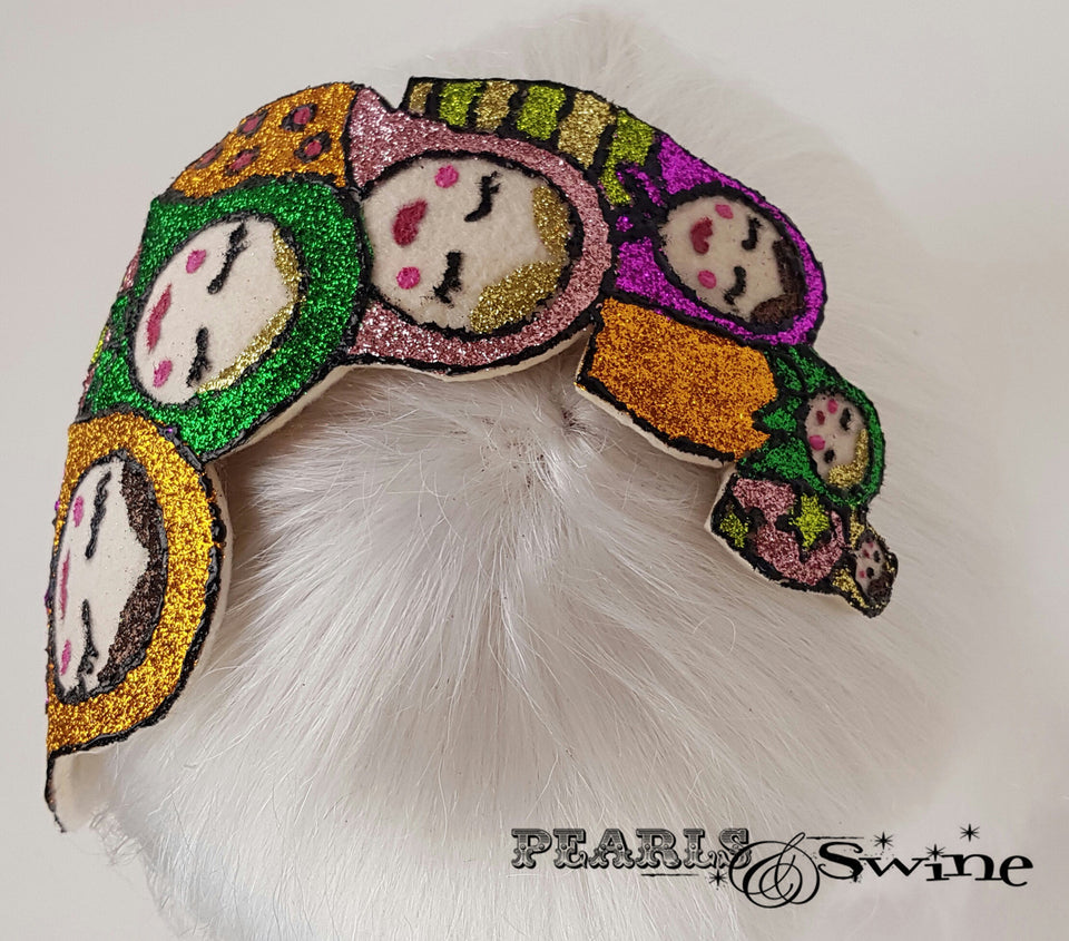 Colourful Glitter Russian Doll unique Hat UK