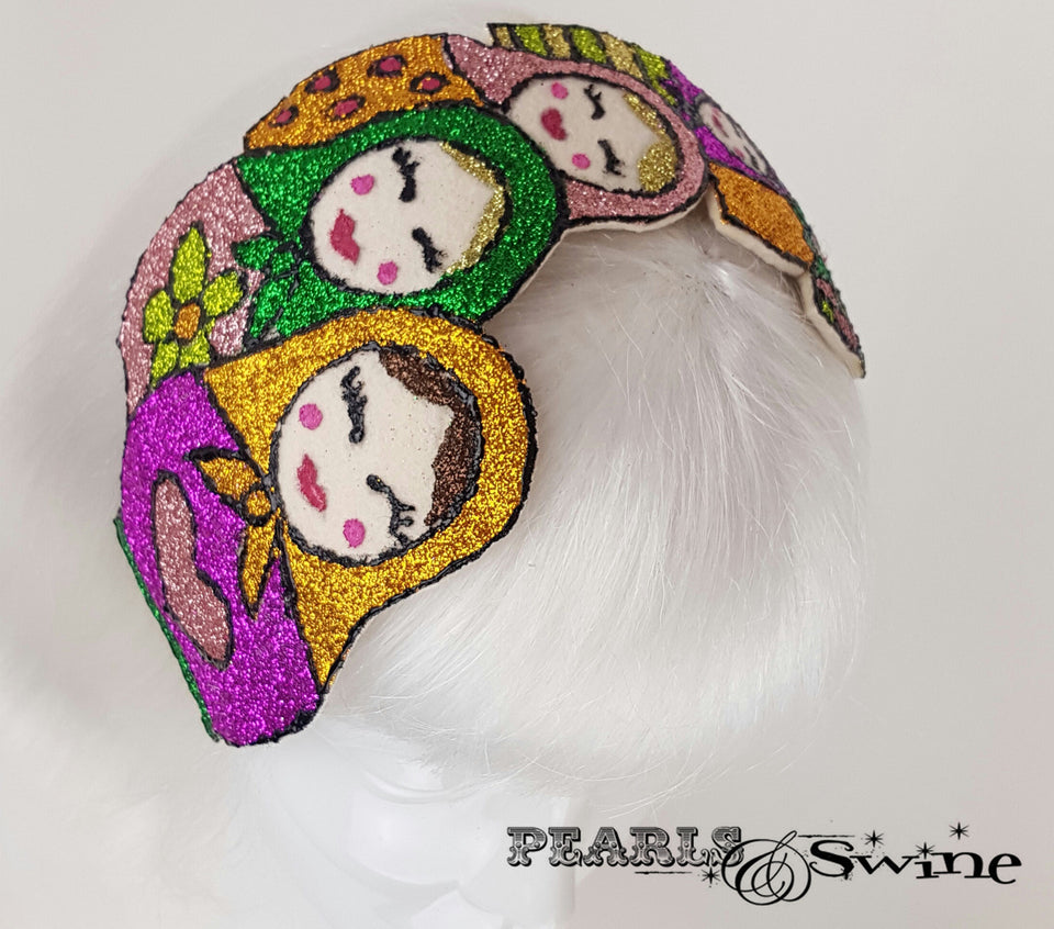 Colourful Glitter Russian Doll quirky Hat UK