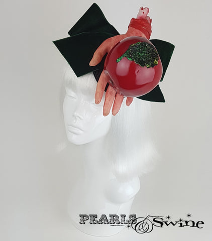 snow white poison apple fascinator