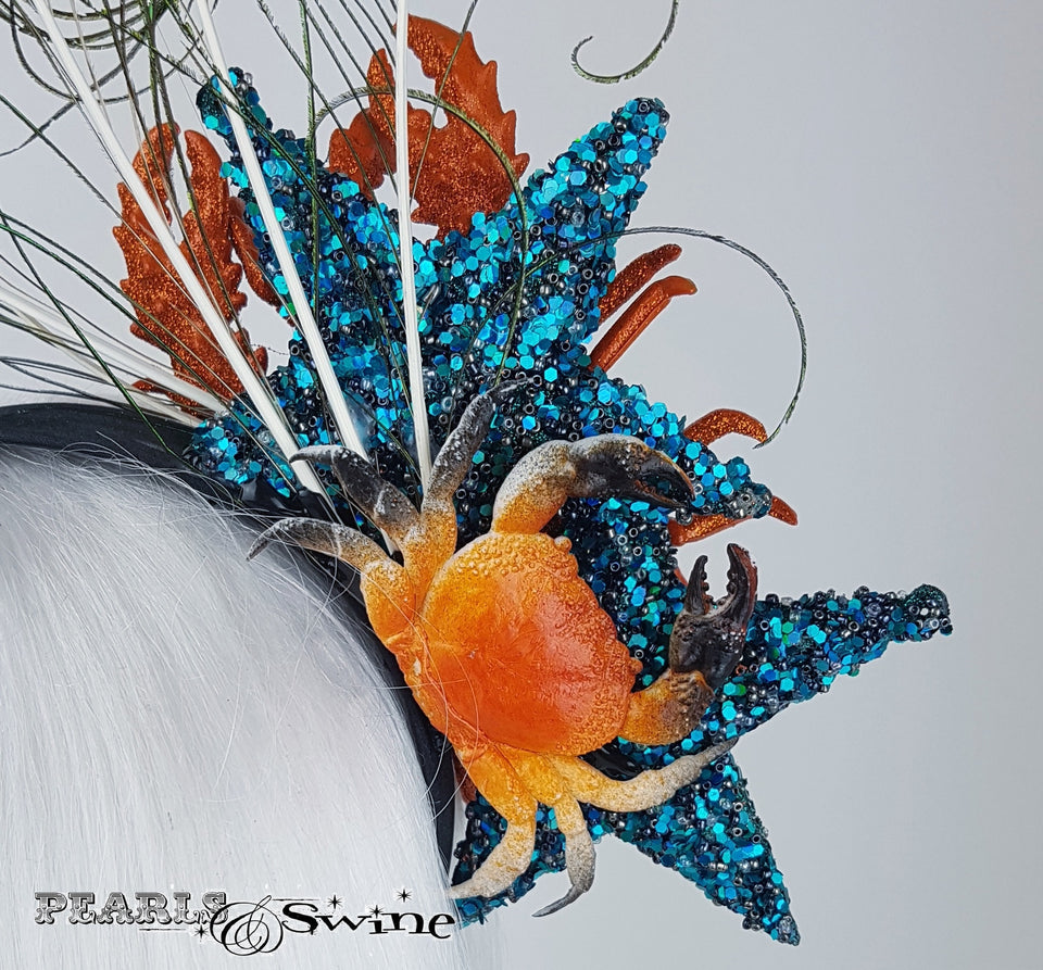 Star fish peacock headband