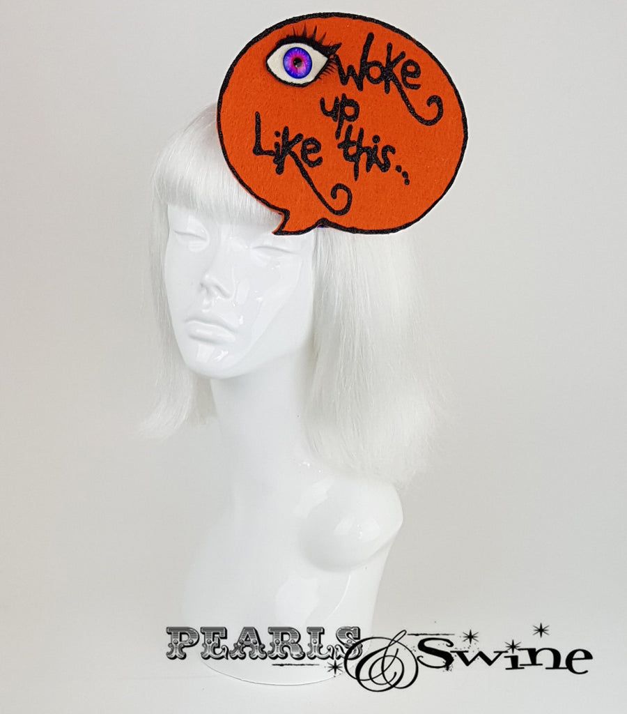 Speech Bubble Fascinator, quirky ladies hats for sale UK