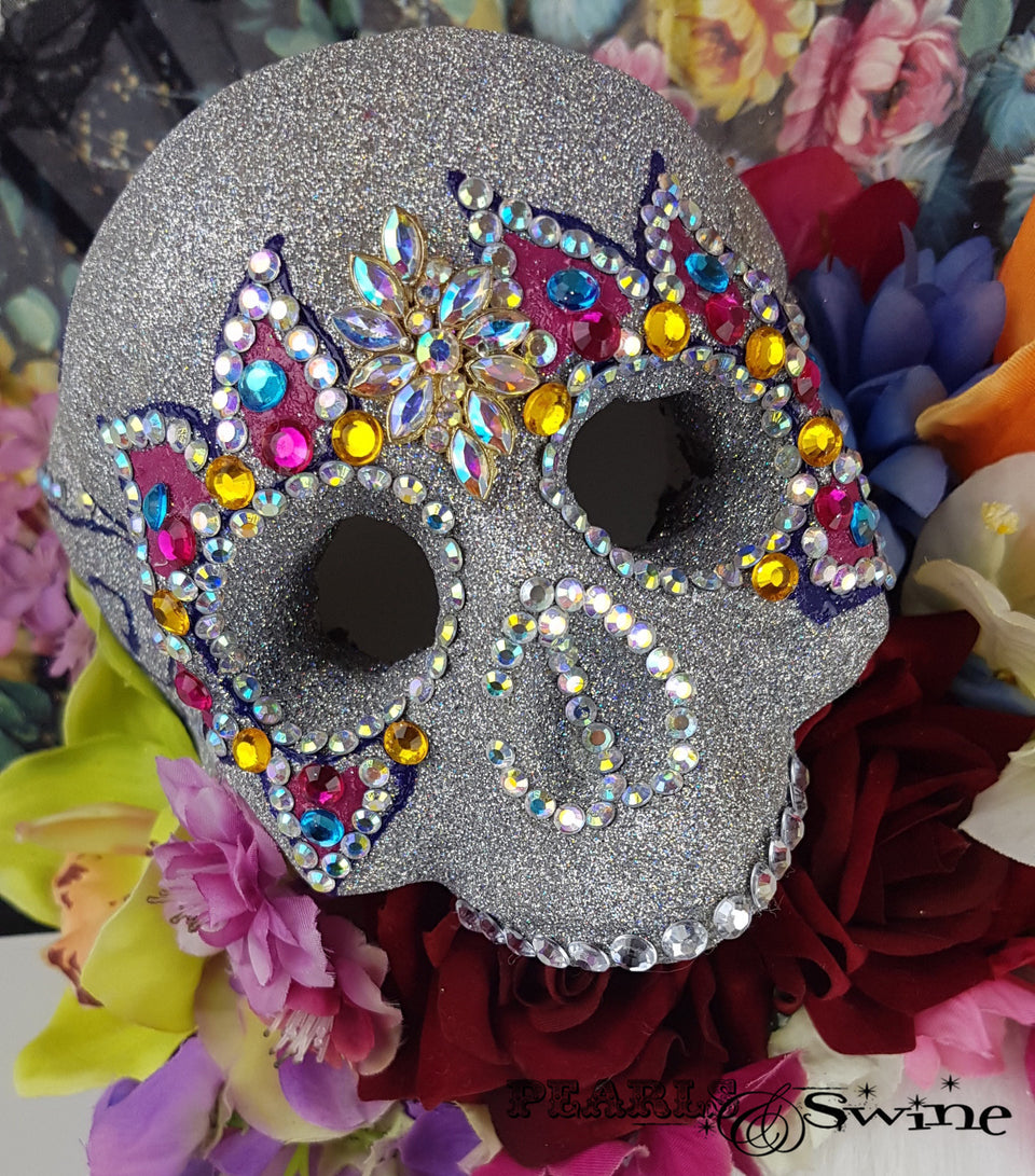 "Day of the Dead Sugar Skull Hat ""Cráneo del Azúcar"""