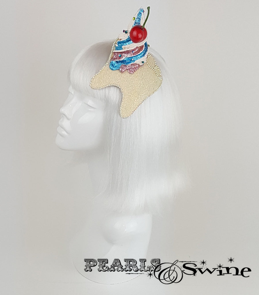 Cupcake Cherry Tooth Fascinator, surreal hats for ladies UK