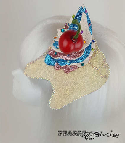 Cupcake Cherry Tooth Fascinator, unique hats for ladies UK