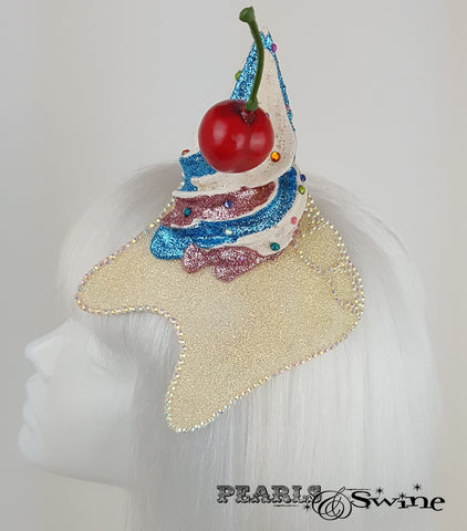 Cupcake Cherry Tooth Fascinator, unusual hats for ladies UK