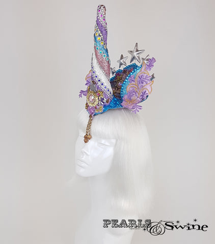 glitter unicorn surreal headpiece UK
