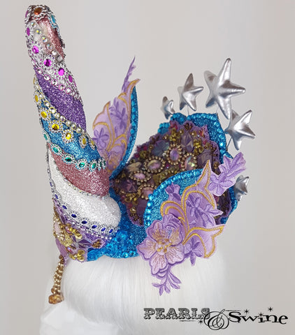 glitter unicorn horn surreal quirky headdress