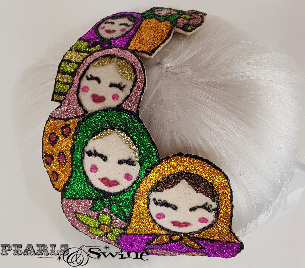 Colourful Glitter Russian Doll Hat