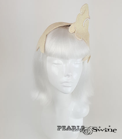 Vintage inspired glitter mermaid whimsical headpiece