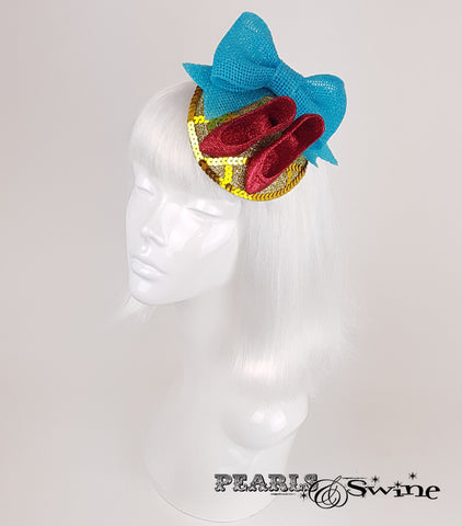 Wizard of Oz Ruby Slippers inspired fascinator