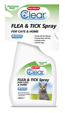 Clear Flea & Tick Spray for Cats & Home