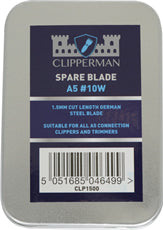 Clipperman A5 #10W German Steel Wide Blade Set