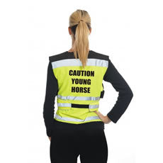 Equisafety Air Waistcoat - Caution Young Horse