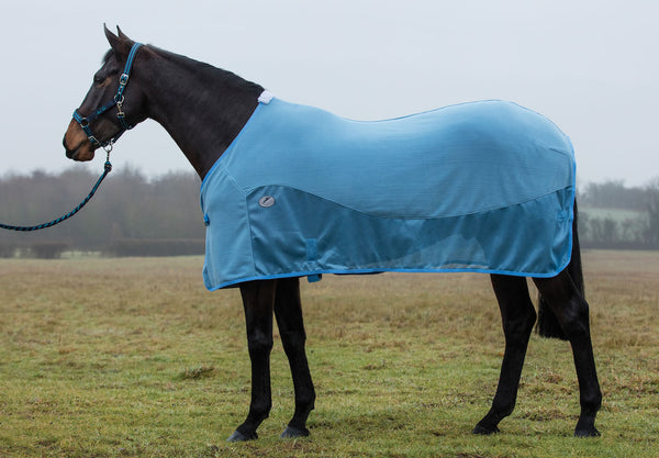 JHL Essential Fleece Mesh Rug Blue
