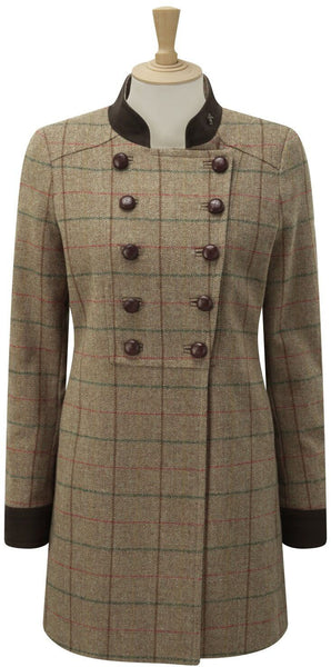 Caldene Country Coat Rosedene Military Tweed Sage