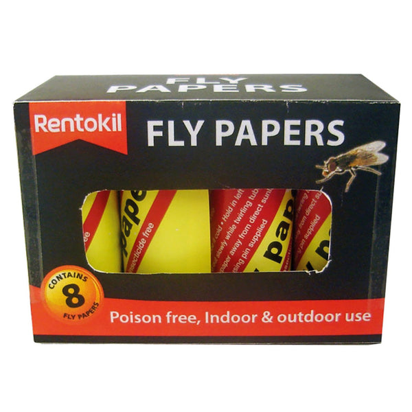 Rentokil Fly Papers - 12 x 8 Pack