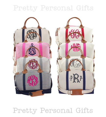 monogram weekender bag colors