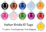 Horse Halter Bridle ID Tag  free shipping
