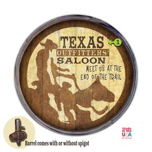 Personalized Barrel End Outfitters Saloon Bar Sign