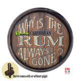 Personalized Barrel End Rum Sign