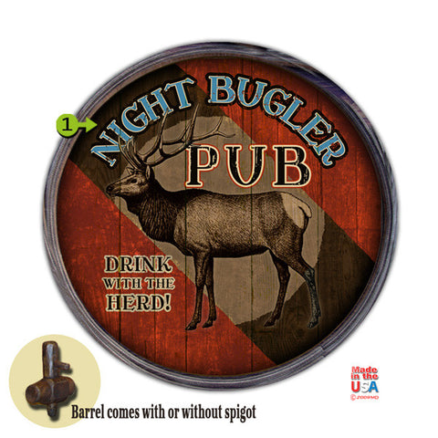Personalized Barrel End Elk Pub Bar Sign