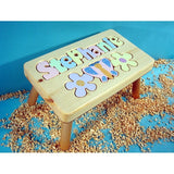 Wooden Name Puzzle Stool